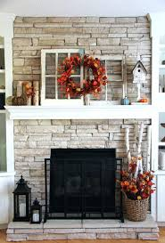 thanksgiving fireplace mantel decoration fall decor decorations