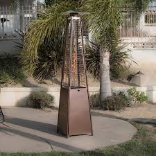 Patio Gas Heaters by 42 000btu Deluxe Outdoor Pyramid Propane Glass Tube Dancing Flames