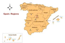 San Sebastian Spain Map by Spain Regions Map And Guide