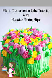 flower decorating tips floral buttercream cake with russian piping tips video tutorial