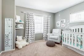Chevron Nursery Curtains Bedroom Modern Wall Chevron Drapery Brown Rug Gray Nursery