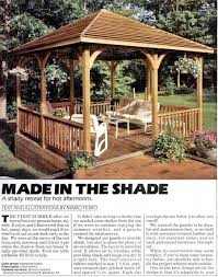 Easy Diy Garden Gazebo by Wooden Gazebo Plans U2022 Woodarchivist