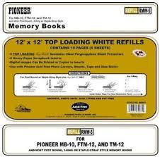 pioneer scrapbook refills pioneer photo albums rmw5 top loading pocket scrapbook refills