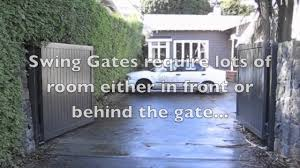 Front Door Security Gate by Sliding Gate Vs Swing Gate Installation Burbank Ca Youtube