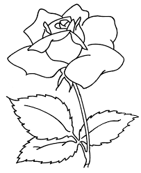 simple flower coloring pages getcoloringpages com