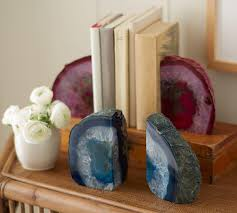 decor outstanding geode bookends simple agate bookends