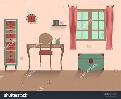 home interior modern interior design children stock vector