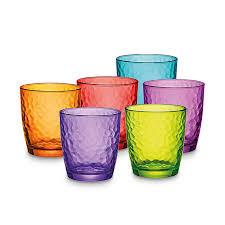 set bicchieri bormioli set 3 bicchieri acqua palatina vari colori cl 32