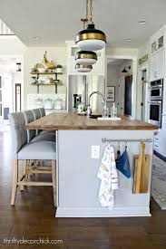 custom kitchen cabinets island adding custom detail to a plain kitchen island from thrifty