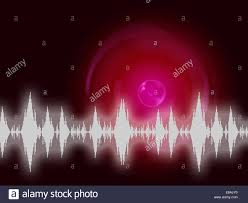 sound wave background meaning audio frequency or analyzer stock