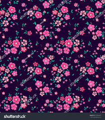 Beautiful Purple Motifs Cute Floral Pattern Small Flower Ditsy Stock Vector 522904657