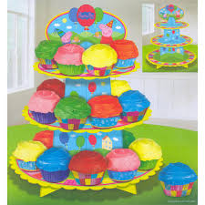 peppa pig party peppa pig party supplies cupcake decorations stand party