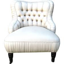 Slipper Armchair French Tufted Slipper Chair At 1stdibs