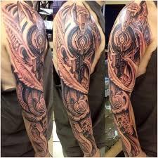 machine tattoo biomechanical arm tattoo on tattoochief com