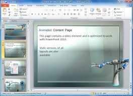 animated robot powerpoint template for manufacturing presentations