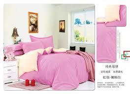 coming soon plain pink light yellow duvet covers bedding set