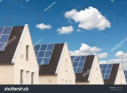 solar panels on houses row dutch new houses solar panels stock photo 125677742 shutterstock