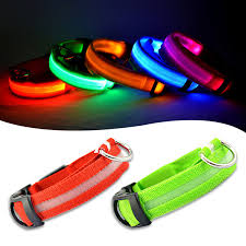 free shipping 7 colors mascotas glow led light up collar