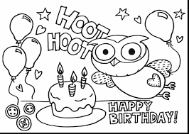 marvelous birthday cake coloring page dot with birthday cake