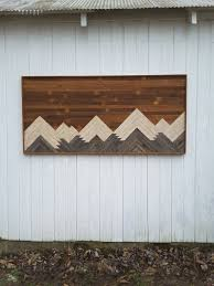 reclaimed wood wall mountains bedroom furniture large wall