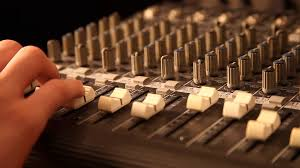 Recording Studio Mixing Desk by Radio Studio Mixing Sound Buttons Console Music Broadcast