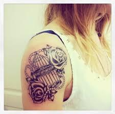 cute birdcage arm tattoo tattoomagz