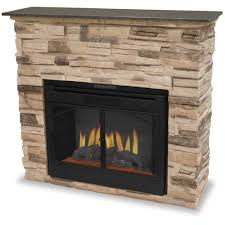 appealing modern stone gas logs fireplace design ideas with comely