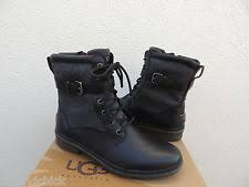 s ugg australia gershwin boots ugg gershwin black waterproof leather sheepskin lined boots us 11
