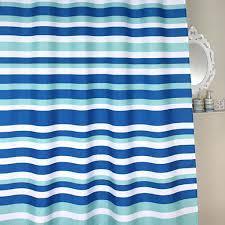 Stripe Shower Curtains Blue Stripe Shower Curtain