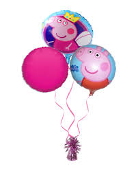 pig balloons kids characters balloon bouquets
