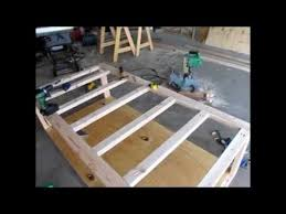 How To Build A Wood Platform Bed Frame by Diy Day Bed Part 1 Rough Frame And Design Youtube