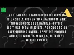 Clogged Kitchen Sink Drano by Can You Put Drano Down The Kitchen Sink Youtube