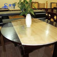 dining table cover pad soft glass table cloth round table pvc transparent table cloth pad