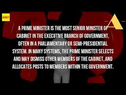What Is A Government Cabinet What Is The Role Of A Prime Minister Youtube