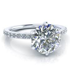 6 prong engagement ring 6 prong engagement ring setting gtj3756 w gerry the jeweler