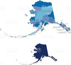 Alaska Usa Map by Alaska State Counties Map Stock Vector Art 165750632 Istock