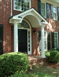 gabled portico with arched beadboard ceiling designed by georgia