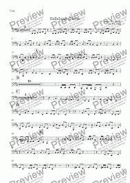 tuba part from hallelujah chorus sheet pdf