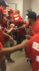 video captures 49ers fans u0027 violent bathroom brawl u0027over open stall