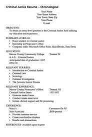 Criminal Justice Resume Samples sample experience musician resume http exampleresumecv org