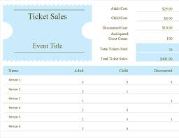 Excel Templates Sales Tracking Ticket Sales Tracker Office Templates