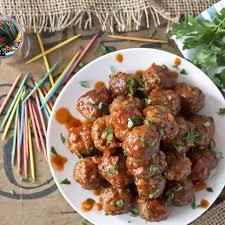 spicy sriracha party meatballs grain free gluten free paleo