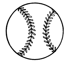 baseball clipart black and white pencil and in color baseball