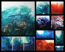 how to create a u0027swirled u0027 abstract painting with acrylic paint