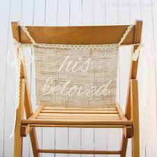 and groom chair signs diy burlap chair signs for the groom the thinking closet