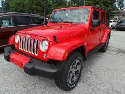 red jeep wrangler unlimited red jeep wrangler for sale used cars on buysellsearch