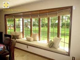 interesting bow window treatments curtain rod for less than 10 on