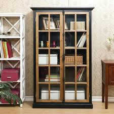 bookcase white glass door bookcase ikea bookcase with doors