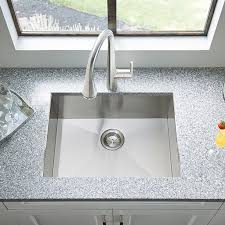 Stainless Kitchen Sinks by Edgewater Dual Mount 25x22 Stainless Steel Kitchen Sink American
