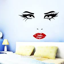 online get cheap wall sticker face woman aliexpress com alibaba perfect woman face hairdressing beauty wall art stickers decal home diy decoration wall mural bedroom decor